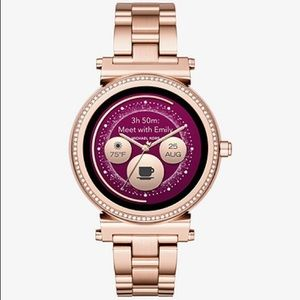 Michael Kors Sofie access smart watch in rose gold